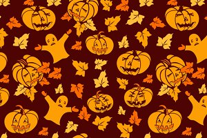 Halloween seamless cartoon pattern