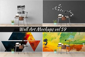 Wall Mockup - Sticker Mockup Vol 59