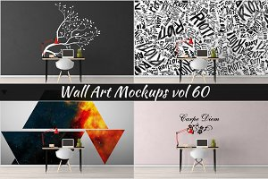 Wall Mockup - Sticker Mockup Vol 60