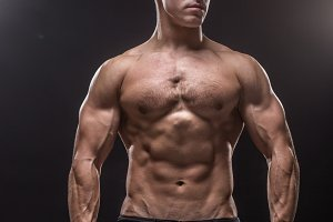 Bodybuilder young man