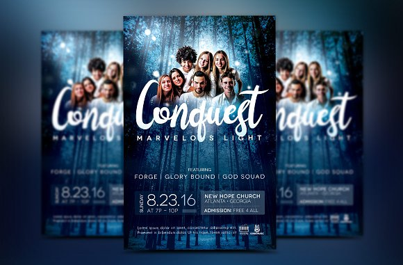 Youth Concert Flyer Template Flyer Templates Creative Market