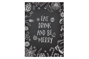 Holiday menu poster