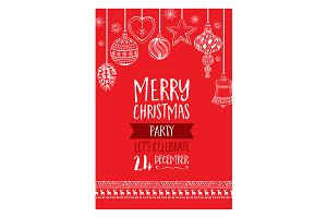 Vector christmas party invitation