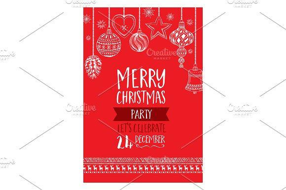 Vector christmas party invitation