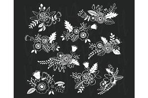 Chalkboard Vintage Flower