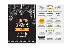 Christmas holiday menu