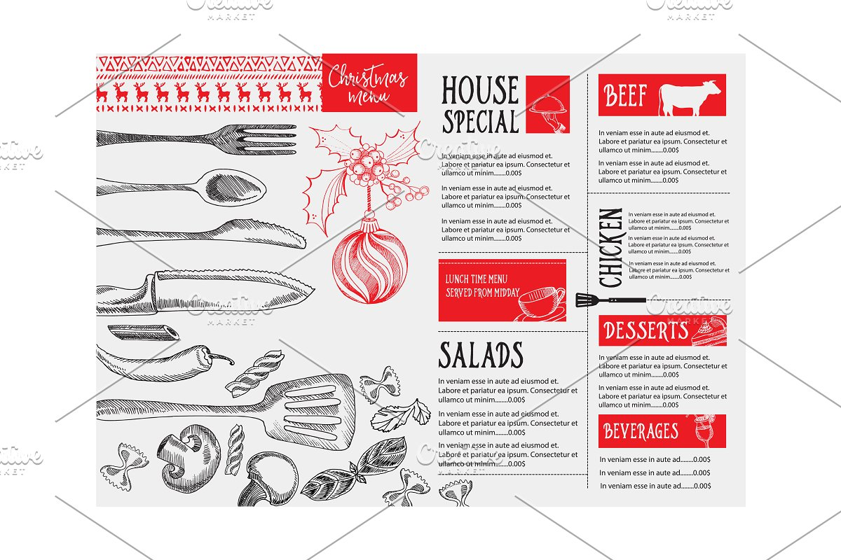 Christmas holiday menu