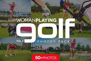 Woman playing GOLF v.1 /50+pics