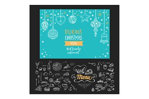 Christmas menu invitation