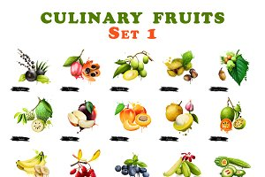 Culinary fruits set part 1