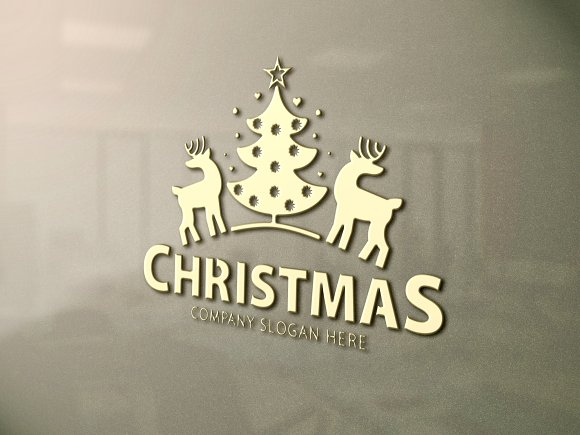 merry christmas tree logo - Merry Christmas Logos