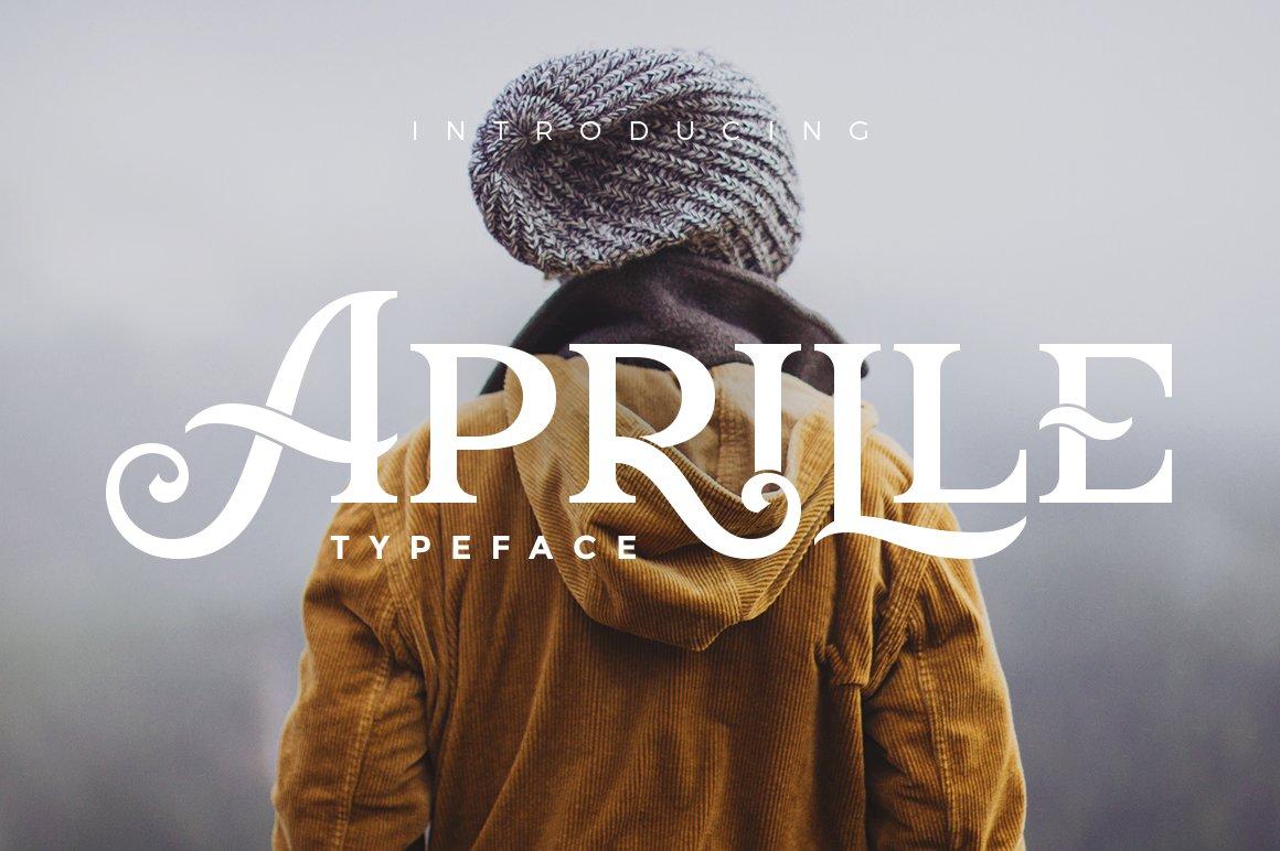 Aprille Typeface Display Fonts Creative Market