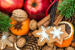 Christmas food with decoration
