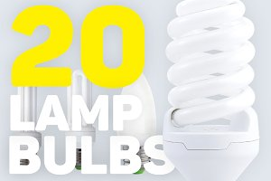 Fluorescent energy saving lamp bulbs