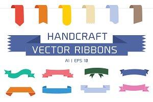 Handcraft Vector Ribbons