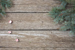 Christmas Stock Image on Wooden Bg