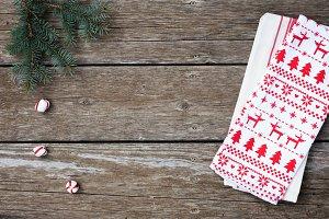 Christmas Styled Flatlay Stock Image