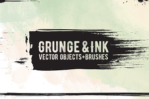 Ink Vector Brushes + Shapes
