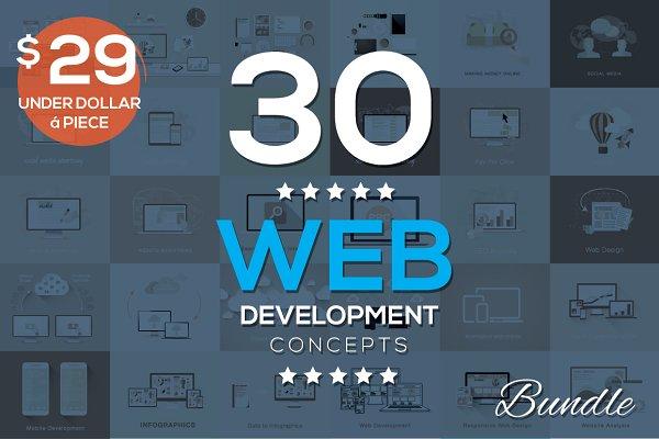 30 Web Development Concepts Bundle