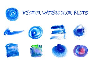 Vector watercolor blots.