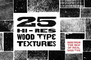 Hi-Res Wood Type Textures