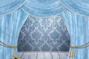 16 Velvet Stage Curtain Backdrops