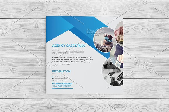 Square Bi Fold Brochure in Brochure Templates - product preview 3