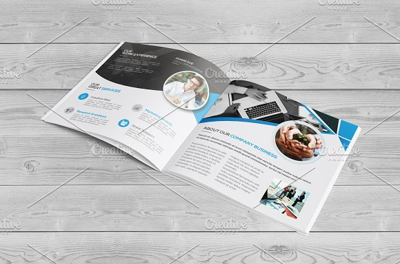 Square Bi Fold Brochure in Brochure Templates - product preview 4