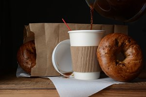 Coffee and Bagel Breakfast To-Go