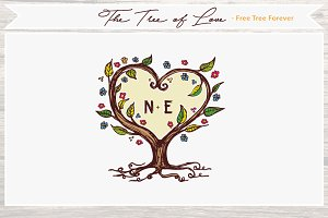 The Tree of Love - whimsical artwork