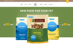 Animer–Pet Food eCommerce Template