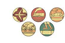 5 Transport Icons