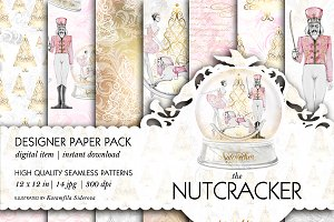 Nutcracker Seamless Patterns