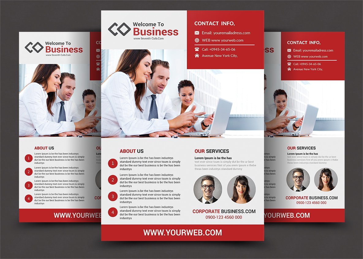 corporate business flyers flyer templates creative market
