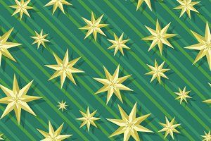 Eight-pointed stars Seamless Pattern
