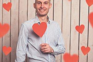 Love in Valentine's day.