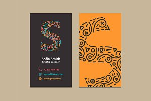 Letter S Logo Business card