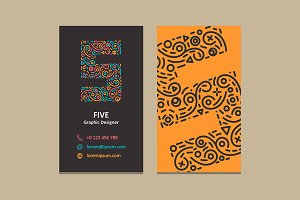 Number 5 Logo Business card