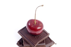 chocolate with red cherry