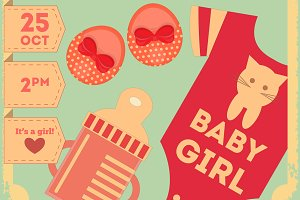 Baby Shower Retro Poster