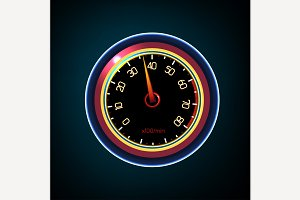 Car Tachometer Illustration