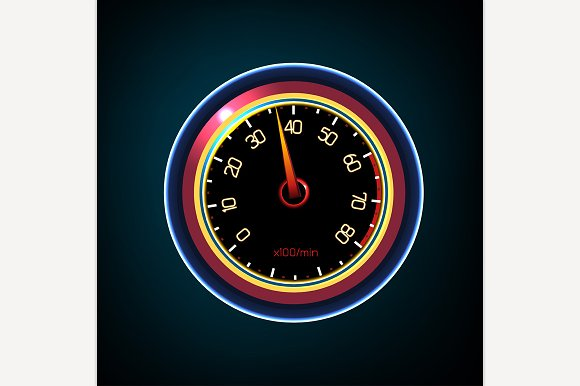 Car Tachometer Illustration