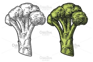 Broccoli with leaf