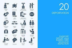 Deportation icons