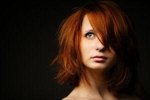 Beautiful red-haired girl