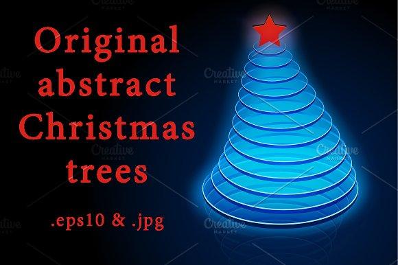 Original abstract Christmas trees