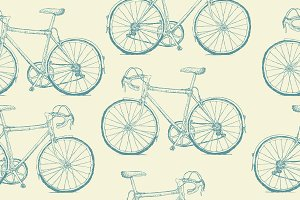 Hand-drawn Bicycles pattern