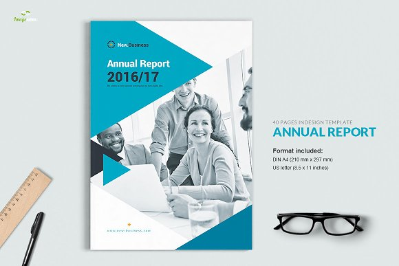 Annual report 40 pages brochure templates creative market flashek Gallery