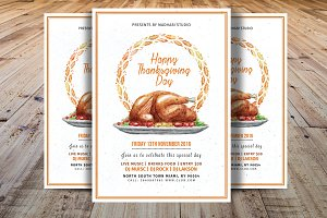 Thanksgiving Day Flyer Template V3