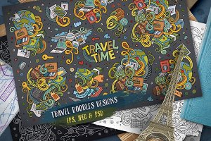Travel Doodles Designs Set